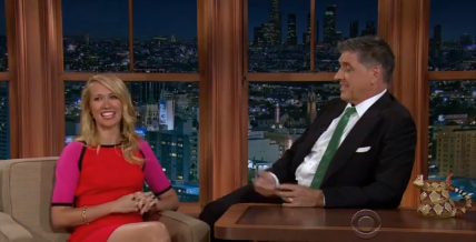 Anna Camp on the Late Late Show with Craig Ferguson to promote True Blood