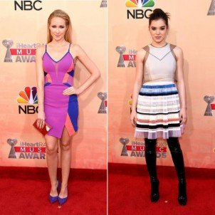 Hailee Steinfeld and Anna Camp talk Pitch Perfect 2 at iHeartRadio Music Awards