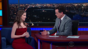 """Anna Kendrick Geeks Out And Sings With Stephen on the """"Late Show"""""""