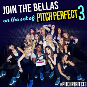 Pitch Perfect 3 films Bellas' live performance!
