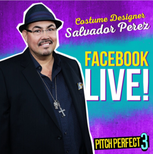 On the set of Pitch Perfect 3 with costume designer Salvador Perez